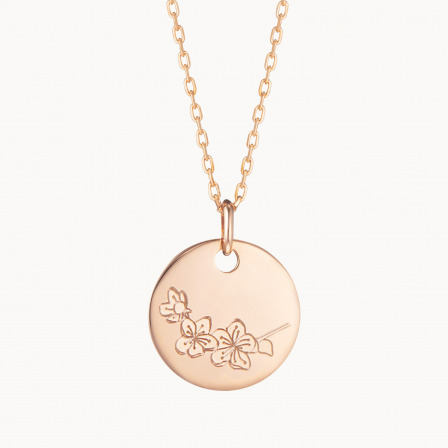 personalized mother necklace gold plated medium birth flower necklace merci maman