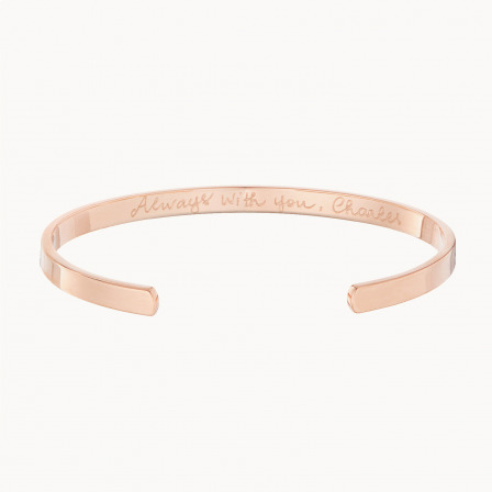 Personalised Open Bangle-18K Rose Gold Plated