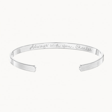 Personalised Open Bangle-925 Sterling Silver