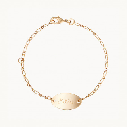 personalised mother child bracelet sterling silver oval chain bracelet merci maman