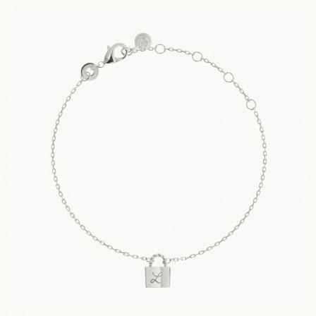 Personalised Padlock Chain Bracelet  -925 Sterling Silver
