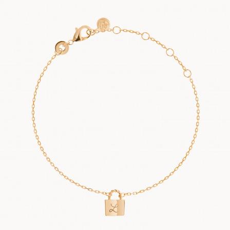 Personalised Padlock Chain Bracelet  -18K Gold Plated