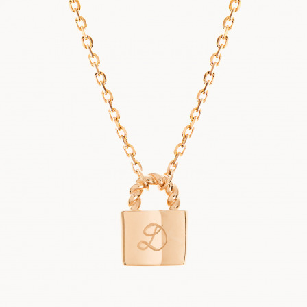 Personalised mother necklace gold plated padlock chain necklace merci maman