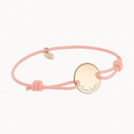 Pulsera con medalla personalizada madre baño de oro pulsera medalla merci maman