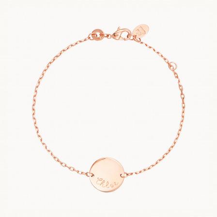 Personalised Pastille Chain Bracelet-18K Rose Gold Plated
