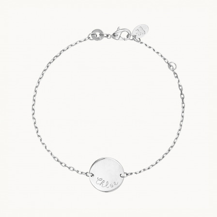 Personalised Pastille Chain Bracelet-925 Sterling Silver