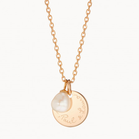 personalised mother necklace gold plated pearl drop necklace merci maman
