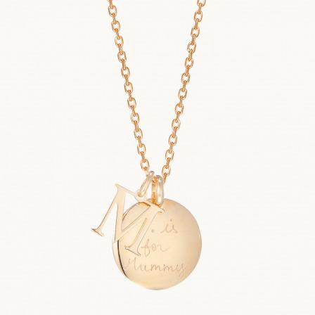 Collar Personalizado Abecedario madre baño de oro collar abecedario merci maman