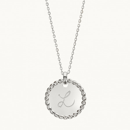 Personalised Entwined Disc Necklace-925 Sterling Silver