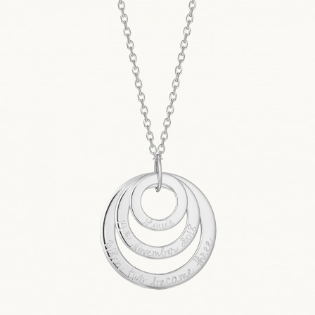 Personalised Eternity Trio Necklace-Sterling Silver