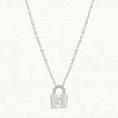 Personalised Padlock Chain Necklace-925 Sterling Silver