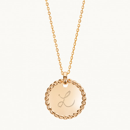 Personalised Entwined Disc Necklace-18K Gold Plated