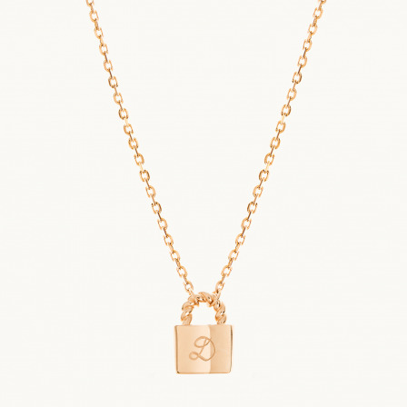 Personalised Padlock Chain Necklace-18K Gold Plated