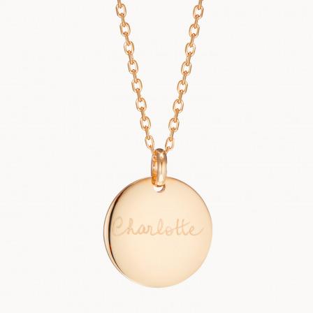 Collar personalizado con medalla de firma madre baño de oro collar con medalla merci maman