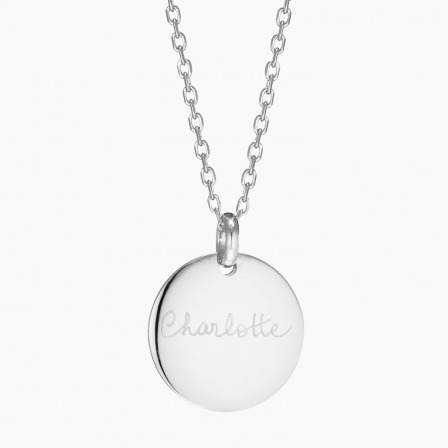Personalised Signature Disc Necklace-925 Sterling Silver