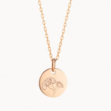personalised mother necklace gold plated small birth flower necklace merci maman