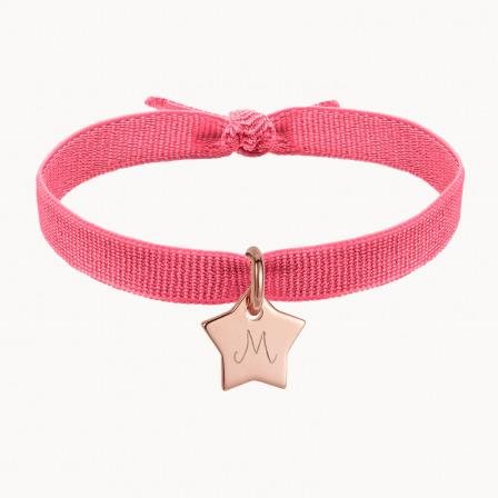 Personalised Stretchy Bracelet-18K Rose Gold Plated