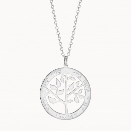 Personalised Tree of Life Necklace-925 Sterling Silver