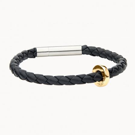 Unity Leather Bracelet-18K Gold Plated