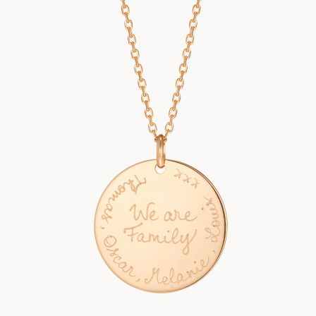Collar We are Family madre baño de oro collar we are family merci maman