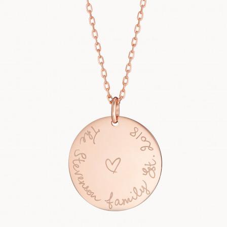 Personalised We Are Family Necklace-18K Rose Gold Plated
